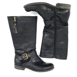 Naturalizer Balada Black Leather Boots